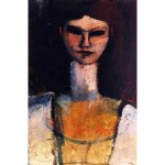 Bust of a young woman-Amedeo Modigliani