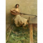 Girl with Lute-Thomas Dewing