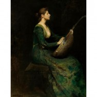 Lady with a Lute-Thomas Dewing